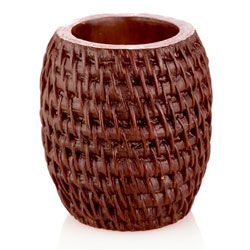 Mandara Spa 4 inch Rattan Hurricane Candle