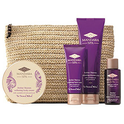 Mandara Spa Amber Heaven Spa Getaway Travel Bag