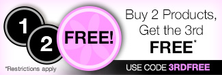 timetospa Special Promotions - Buy two, get the third free. Use promo code 3RDFREE to redeem.
