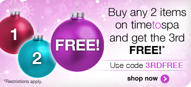 buy 2 products, get the 3rd FREE. Use promo code 3RDFREE to redeem. style=