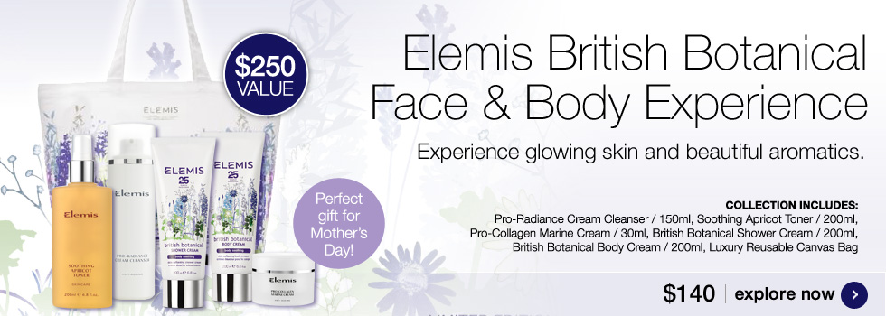 New Elemis British Botanical Face and Body Experience