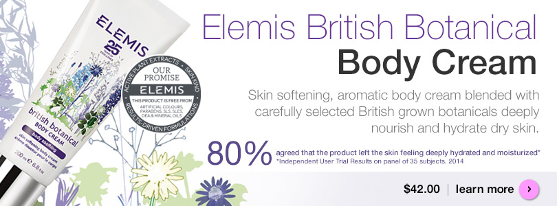 Free Elemis Spa Robe with purchase of $125 or more.