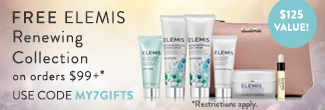 free elemis pro-collagen and pro-radiance collection with $99 orders on timetospa.com