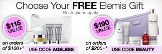 timetospa Special Promotions - Free Elemis Gift on orders of $75 or more.