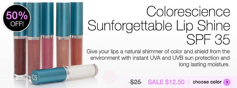 Colorescience Sunforgettable Lip Shine SPF 35 $25 | BUY NOW