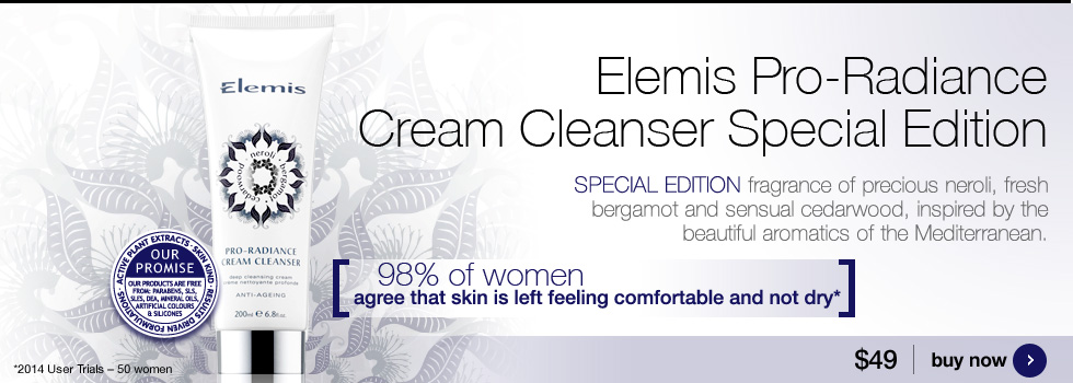 New Elemis Pro-Radiance Cream Cleanser special edition with beautiful new aromatics.