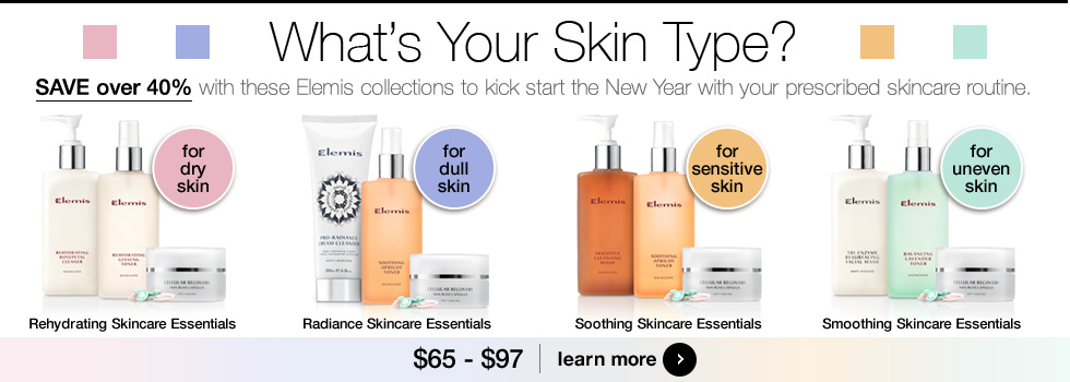 What's your skin type? Choose the best Elemis Skincare Essentials Kit for your specific skin needs.