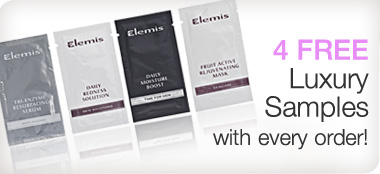 Four free samples with every purchase!