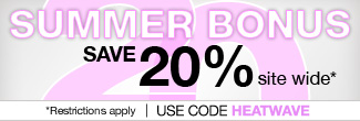 timetospa Special Promotions - Summer Bonus of 20% savings on orders with code HEATWAVE.