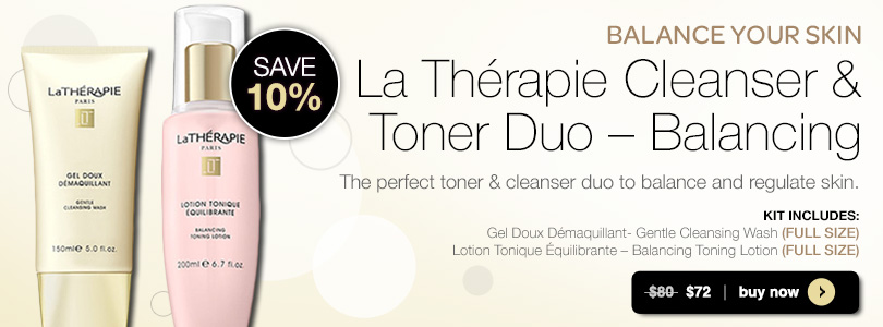 La Therapie Cleanser & Toner Duo - Balancing | BUY NOW