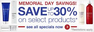 Memorial Day Savings - Save up to 30%