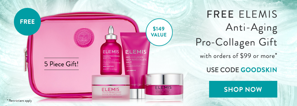 free elemis pro-collagen gift collection with $99+ orders