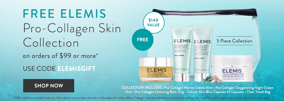 free elemis pro-collagen gift collection withj $99+ orders