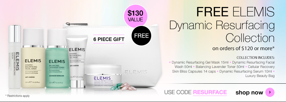 free elemis dynamic resurfacing collection worth $130