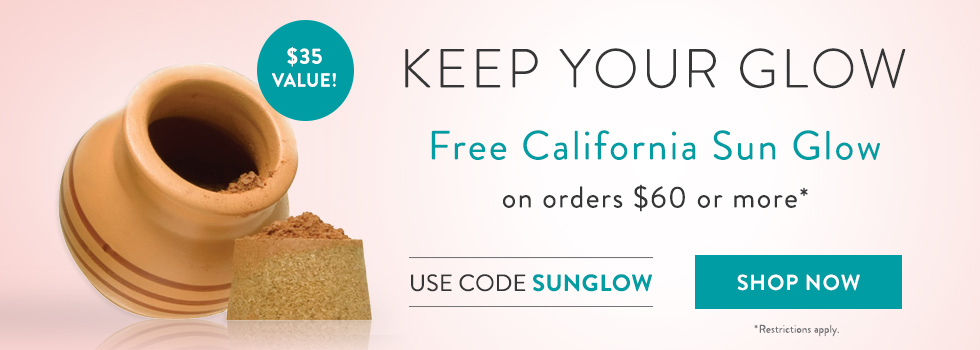 Free California Sun Glow Bronzer with Orders of $60+