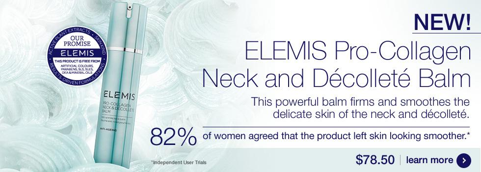 New Elemis Pro-Collagen Neck and Decollete Balm $78.50