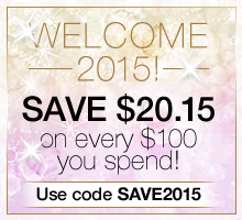 Save $20.15 on every $100 you spend. Use promo code SAVE2015 to redeem.