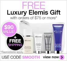Free shipping & free luxury Elemis gift on orders of $75 or more. Use code SMOOTH to redeem.