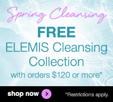free elemis cleansing collection on orders over $120 at timetospa.com
