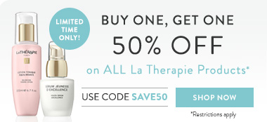 buy 1, get 1 50% off on all la therapie products