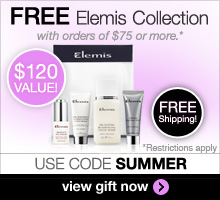 Free Elemis Gift & Shipping on orders of $75 or more. Use code SUMMER to redeem