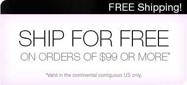 Free shipping on orders of $99 or more.