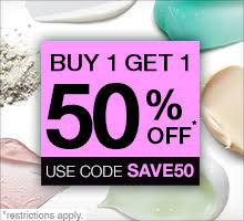 Buy one, get one 50% off. Use promo code SAVE50.