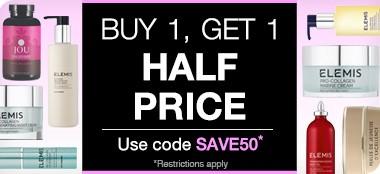 biu one get one 50% off on elemis offer at timetospa.com