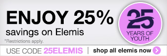 timetospa Special Promotions - Save 25% on all Elemis products. Use promo code 25ELEMIS to redeem.
