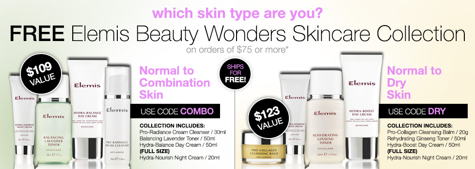 Which skin type are you? Pick your free skincare kit. Use code DRY or COMBO.