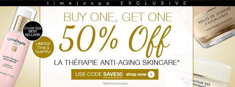 la therapie buy one get one 50% off timetospa.com
