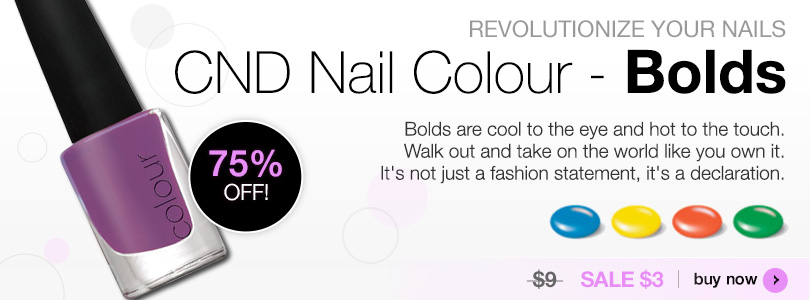 Revolutionize your Nails CND Nail Colour Bolds SALE $3 | BUY NOW