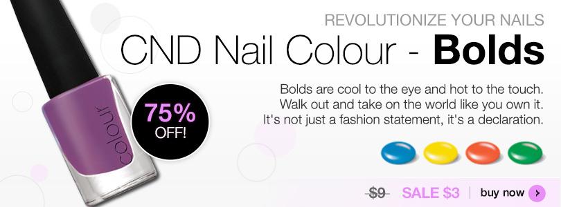 Revolutionize your Nails CND Nail Colour Bolds SALE $3 | BUY NOW
