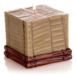 Mandara Spa 3 inch Banana Leaf Cube Candle