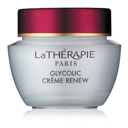 La Thérapie Glycolic Crème Renew Glycolic Day Cream for skin resurfacing.  SPF 30
