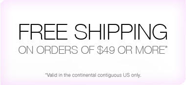 Free shipping on orders of $49 or more.