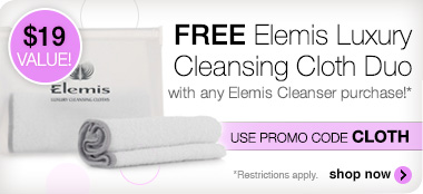 Free Elemis Cleansing Cloth with Cleanser Purchase