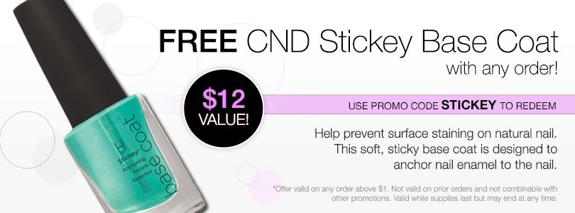 Free CND Stickey with ANY order! Use code STICKEY