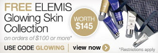 Free ELEMIS Glowing Skin Collection