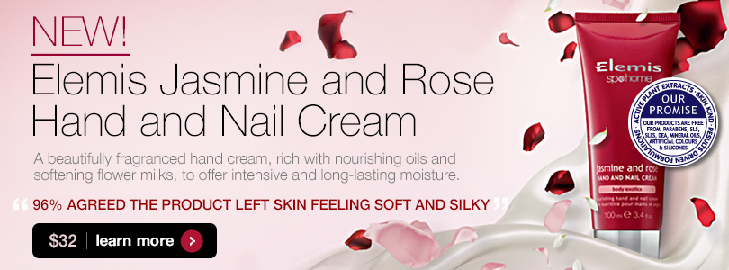 Elemis Jasmine and Rose Hand and Nail Cream $32