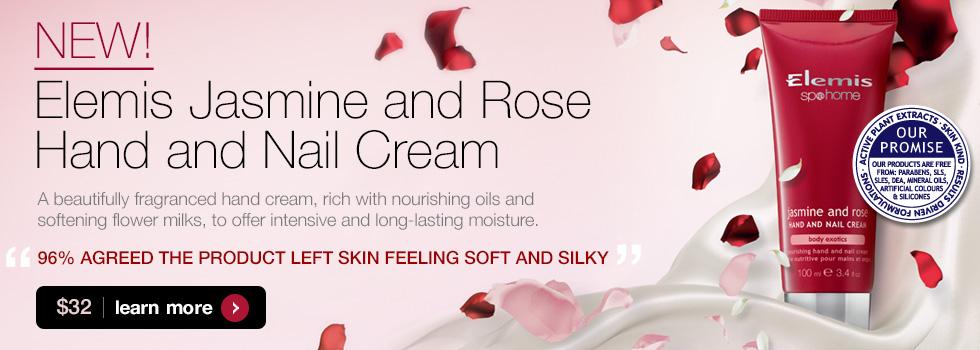 Elemis Jasmine and Rose Hand and Nail Cream $32