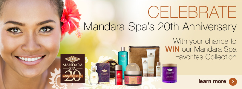 Mandara Spa 20th Anniversary Giveaway