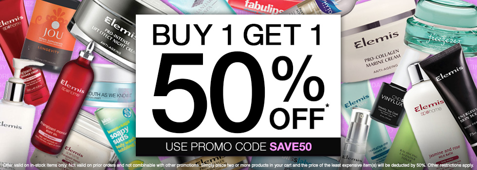 Buy one, get one 50% off with code SAVE50