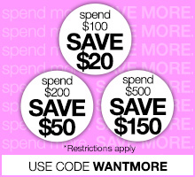 Save up to 30% with promo code WANTMORE