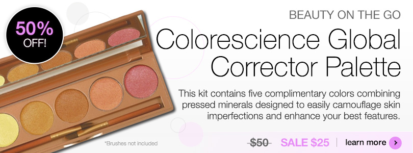 Beauty on the go Colorescience Global Corrector Palette SALE $25 | Learn more