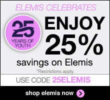 Save 25% on all Elemis products. Use code 25ELEMIS to redeem