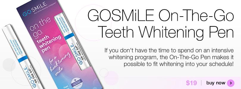 GoSmile on-the-go Teeth Whitening Pen $19 | BUY NOW