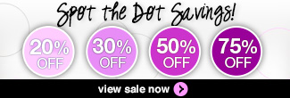 timetospa Special Promotions - Save up to 50% off with our Spot the Dot Promotion